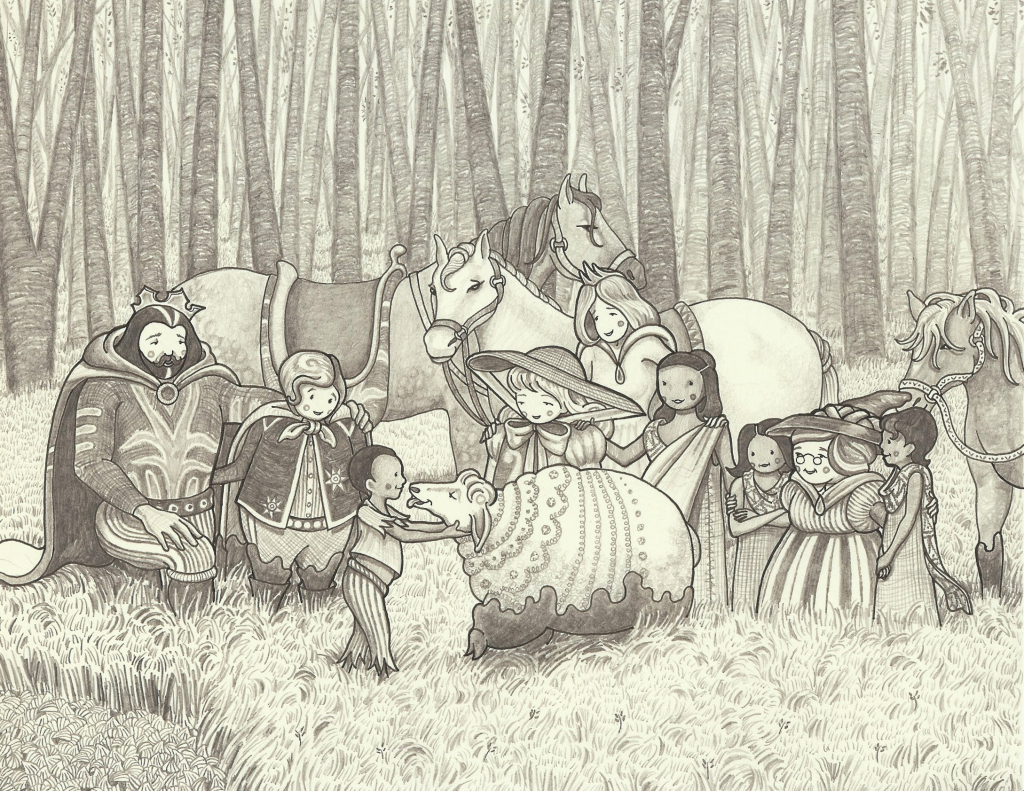 Detail from 'The Lost Prince'.