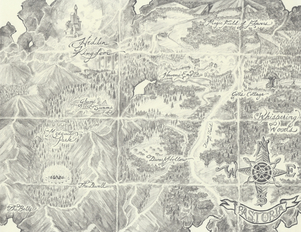 Map of Pastoria from 'The Lost Prince'.